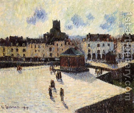 Port at Dieppe 3 by Gustave Loiseau - Reproduction Oil Painting