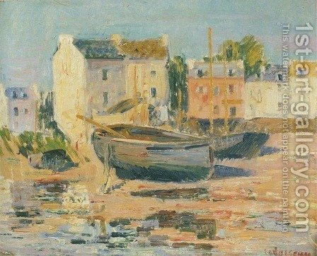 Ships at Port by Gustave Loiseau - Reproduction Oil Painting