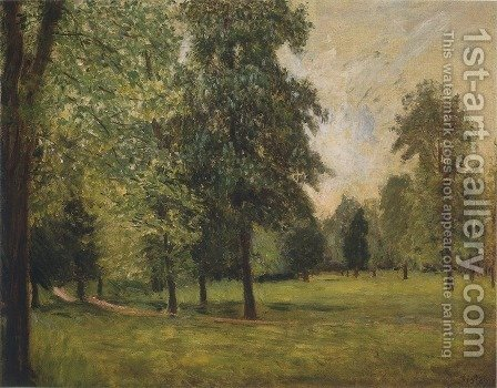 The Park at Sevres by Alfred Sisley - Reproduction Oil Painting
