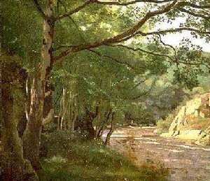 Reproduction oil paintings - Jean-Baptiste-Camille Corot - Ravine in the Morvan, Near Lormes
