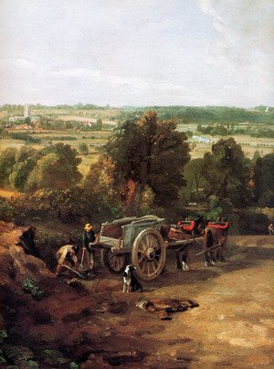 Reproduction oil paintings - John Constable - Stour valley and Dedham village