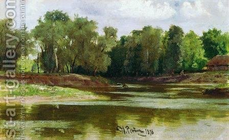 River Bank by Ilya Efimovich Efimovich Repin - Reproduction Oil Painting