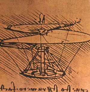 Reproduction oil paintings - Leonardo Da Vinci - Design for a helicopter