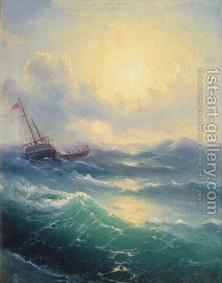 Sea 10 by Ivan Konstantinovich Aivazovsky - Reproduction Oil Painting