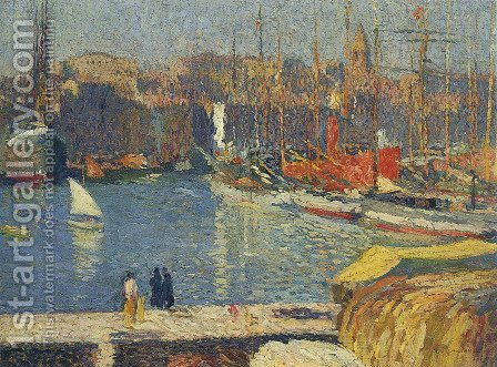Port of Marseille 4 by Henri Martin - Reproduction Oil Painting
