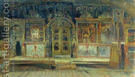 Inside the Peter and Paul Church in Plyos by Isaak Ilyich Levitan - Reproduction Oil Painting