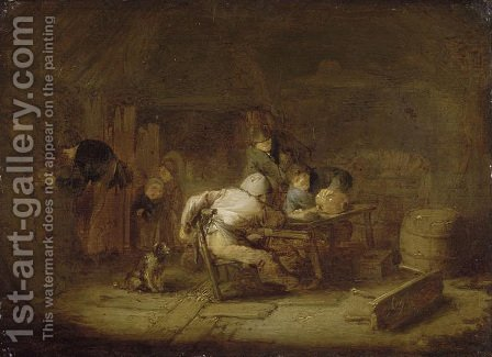 Interior of a Tavern by Adriaen Jansz. Van Ostade - Reproduction Oil Painting