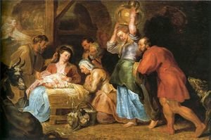 Reproduction oil paintings - Rubens - Adoration of the Shepherds 6