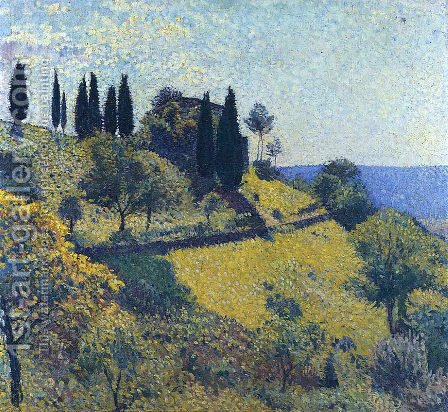 View from the Artist's Studio 2 by Henri Martin - Reproduction Oil Painting