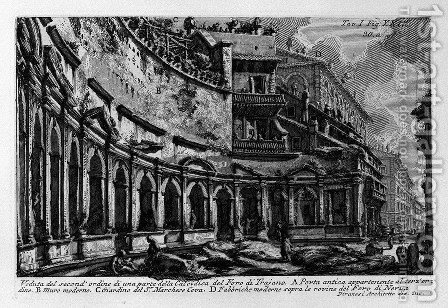 The Roman antiquities, t. 1, Plate XXIX. Trajan's Market. by Giovanni Battista Piranesi - Reproduction Oil Painting