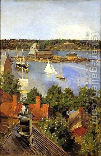 View from North Quay by Akseli Valdemar Gallen-Kallela - Reproduction Oil Painting