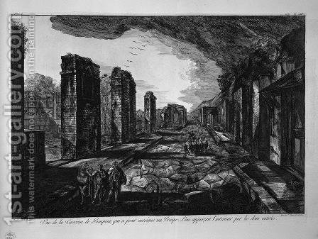 Split on the previous plan by Giovanni Battista Piranesi - Reproduction Oil Painting