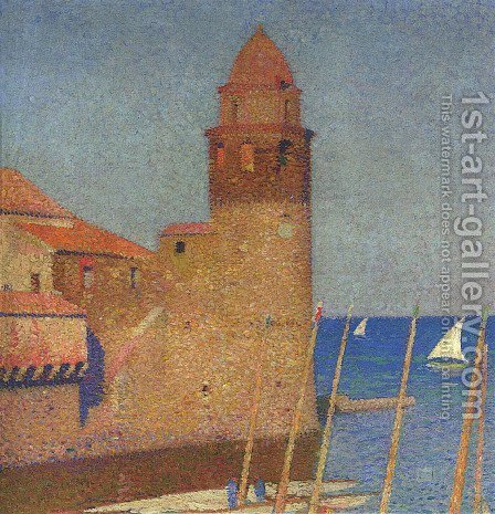 View of Collioure by Henri Martin - Reproduction Oil Painting