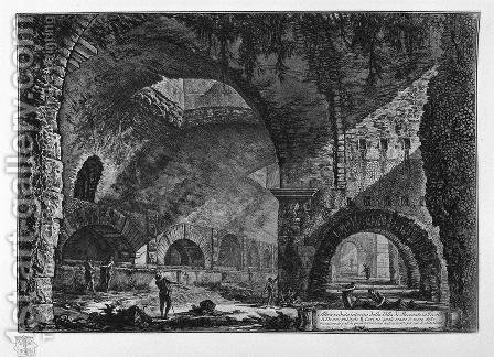 Interior view of the Villa of Maecenas at Tivoli by Giovanni Battista Piranesi - Reproduction Oil Painting