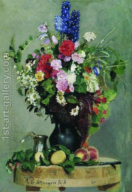 A bouquet of flowers by Ilya Efimovich Efimovich Repin - Reproduction Oil Painting