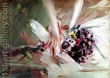 The Pansies by Giovanni Boldini - Reproduction Oil Painting