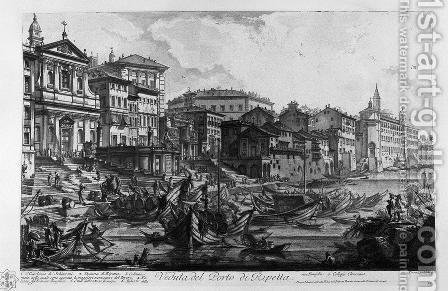 View of the monument erected by the Emperor Titus Vespasian restored for the new aqueducts of anion and Claudia by Giovanni Battista Piranesi - Reproduction Oil Painting