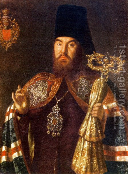 Archbishop Sylvester Kuliabka by Aleksei Antropov - Reproduction Oil Painting