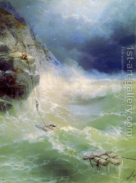 Surf 4 by Ivan Konstantinovich Aivazovsky - Reproduction Oil Painting