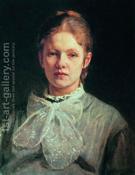Portrait of S.A. Repina 2 by Ilya Efimovich Efimovich Repin - Reproduction Oil Painting