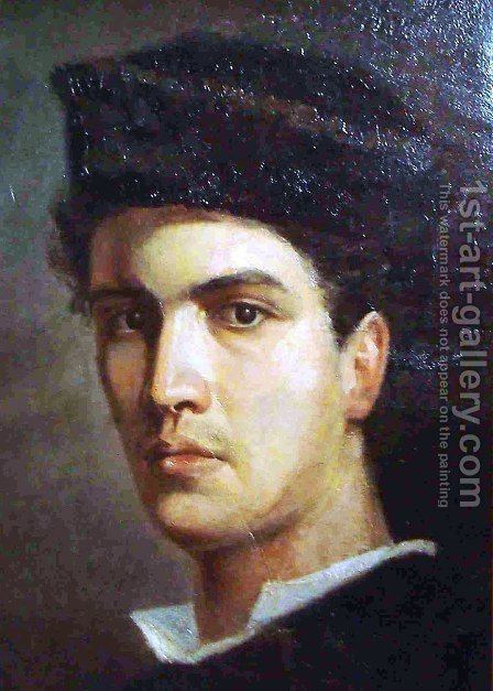 Self-Portrait by Ioannis (Jean H.) Altamura - Reproduction Oil Painting