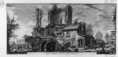 Perspective of the front of the Castle Ruins by Giovanni Battista Piranesi - Reproduction Oil Painting