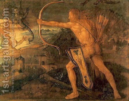 Hercules kills the Symphalic Bird by Albrecht Durer - Reproduction Oil Painting