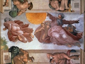 Sistine Chapel Ceiling Creation of the Sun and Moon