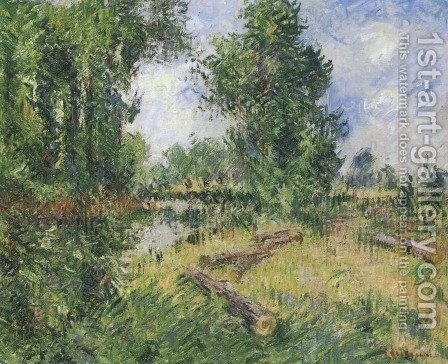 By the Orne River near Caen by Gustave Loiseau - Reproduction Oil Painting