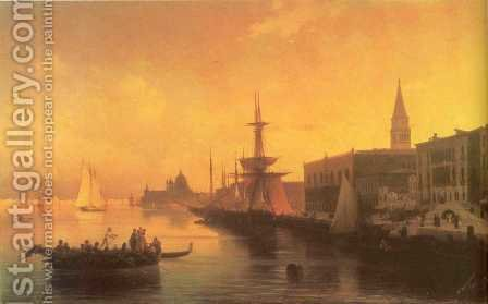 Venice 5 by Ivan Konstantinovich Aivazovsky - Reproduction Oil Painting