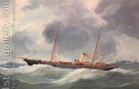 Yacht by Ioannis (Jean H.) Altamura - Reproduction Oil Painting