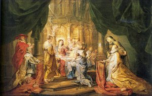 Reproduction oil paintings - Rubens - St. Ildefonso Receiving a Priest Cloak