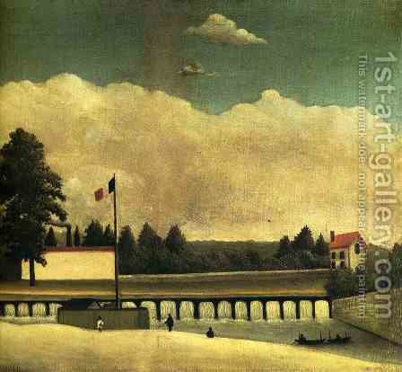 The Dam by Henri Julien Rousseau - Reproduction Oil Painting