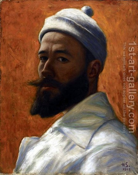 Self-Portrait by Hugo Simberg - Reproduction Oil Painting
