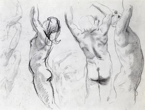 Reproduction oil paintings - Sargent - Studies of a Nude Youth