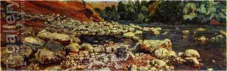 Stones on a River Shore by Alexander Ivanov - Reproduction Oil Painting