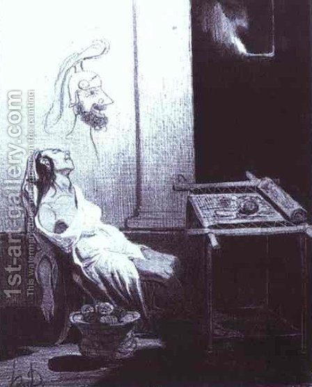 Penelopa's Dream by Honoré Daumier - Reproduction Oil Painting
