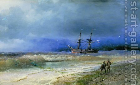 Surf 5 by Ivan Konstantinovich Aivazovsky - Reproduction Oil Painting