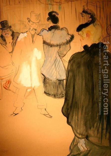 La Goulue and Paul Lescau by Toulouse-Lautrec - Reproduction Oil Painting