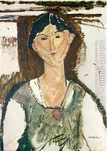 Beatrice Hastings 2 by Amedeo Modigliani - Reproduction Oil Painting