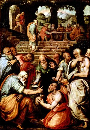 Reproduction oil paintings - Giorgio Vasari - The Prophet Elisha cleansing Naaman