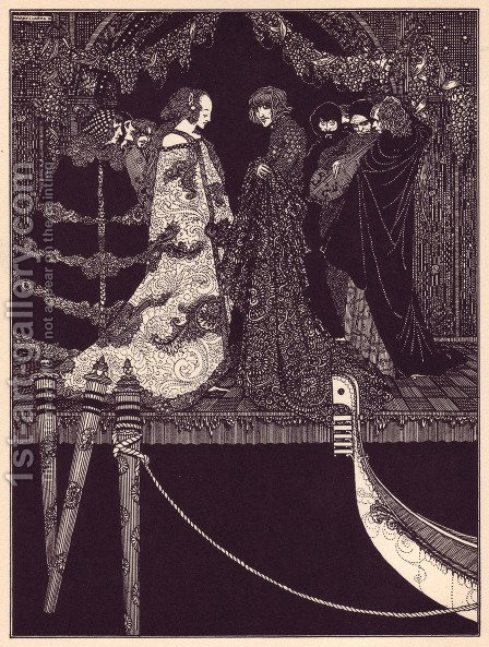 Tales of Mystery and Imagination by Edgar Allan Poe 24 by Harry Clarke - Reproduction Oil Painting