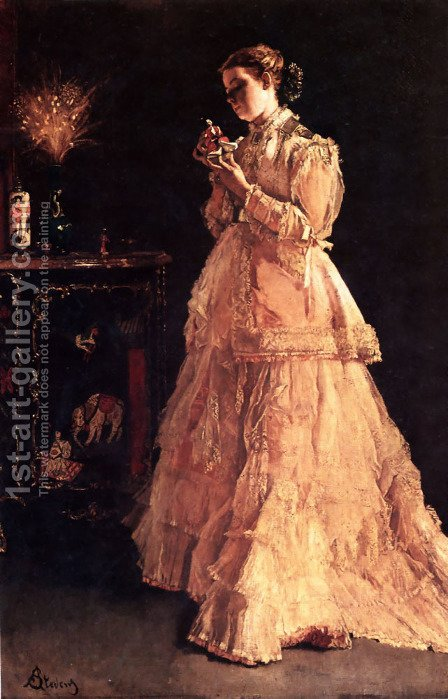 A Doll by Alfred Stevens - Reproduction Oil Painting