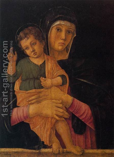 Madonna with Child Blessing by Giovanni Bellini - Reproduction Oil Painting