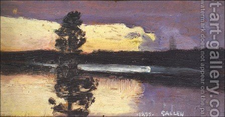 Sunset by Akseli Valdemar Gallen-Kallela - Reproduction Oil Painting