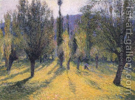 Sun through the Poplar by Henri Martin - Reproduction Oil Painting