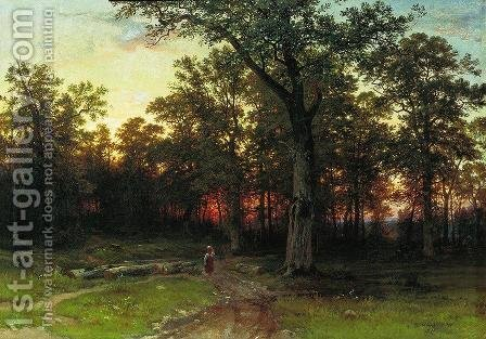 Wood in the evening by Ivan Shishkin - Reproduction Oil Painting