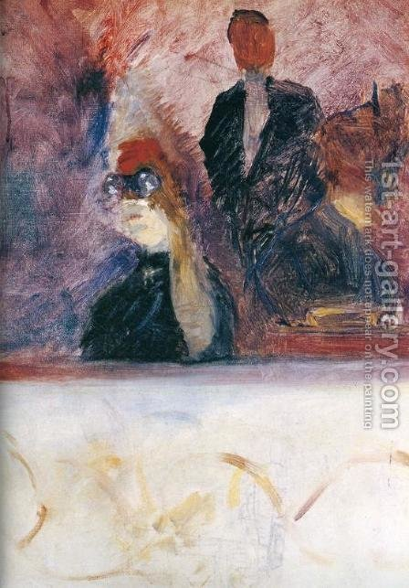 The Theater Box with the Gilded Mask by Toulouse-Lautrec - Reproduction Oil Painting