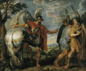 Reproduction oil paintings - Rubens - Decius Mus sends the lictors 1616-1617