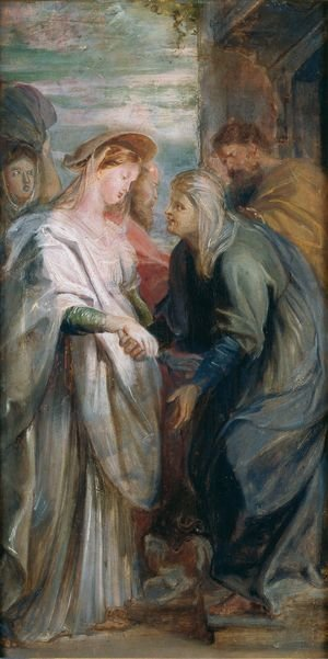 Reproduction oil paintings - Rubens - The Visitation 1611-1612